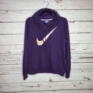 Nike Sportswear Metallic Funnel-Neck Hoodie
